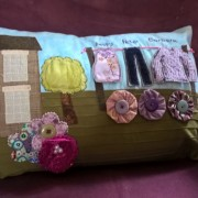 House and washing line Sensory cushion